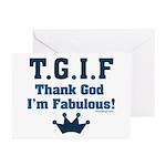TGIF Thank God I'm Fabulous Greeting Cards (Pk of