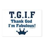 TGIF Thank God I'm Fabulous Postcards (Package of