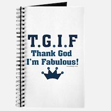 TGIF Thank God I'm Fabulous Journal