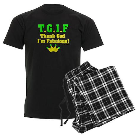 TGIF Thank God I'm Fabulous Men's Dark Pajamas