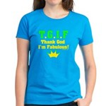 TGIF Thank God I'm Fabulous Women's Dark T-Shirt