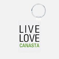 Live Love Canasta Keychains