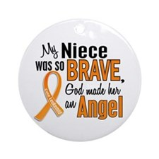 Niece Leukemia Shirts and Apparel Ornament (Round)