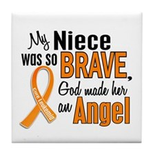 Niece Leukemia Shirts and Apparel Tile Coaster