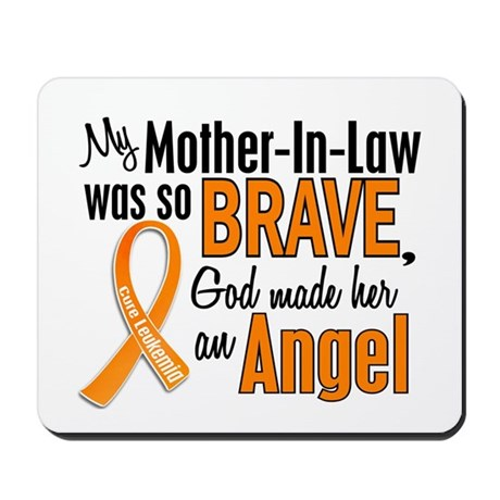 Mother-In-Law Leukemia Shirts and Apparel Mousepad