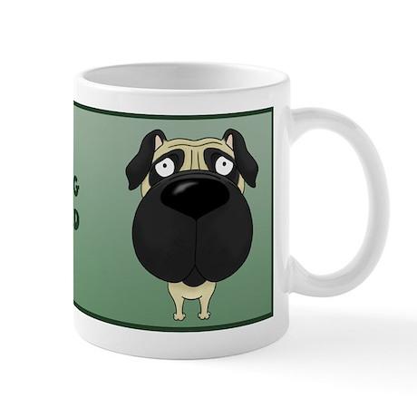 Big Nose Pug Dad Mug