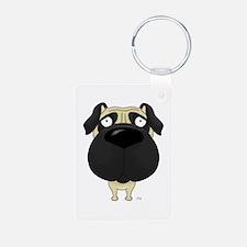 Big Nose Pug Keychains