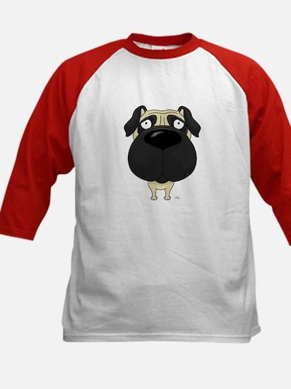 Big Nose Pug Kids Baseball Jersey
