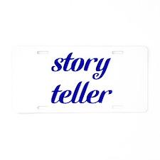 Story Teller Aluminum License Plate