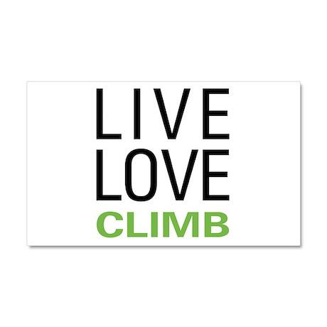 Live Love Climb Car Magnet 20 x 12