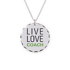 Live Love Coach Necklace Circle Charm