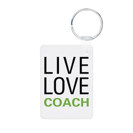 Live Love Coach Aluminum Photo Keychain