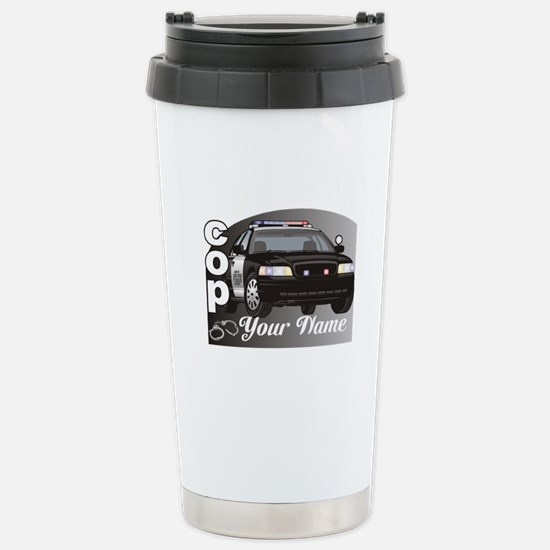 Custom Personalized Cop Stainless Steel Travel Mug