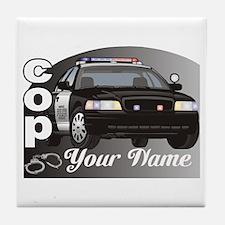 Custom Personalized Cop Tile Coaster
