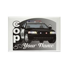 Custom Personalized Cop Rectangle Magnet
