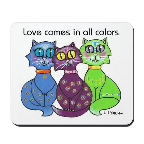 """Cat Colors"" Mousepad"