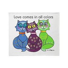 """Cat Colors"" Throw Blanket"