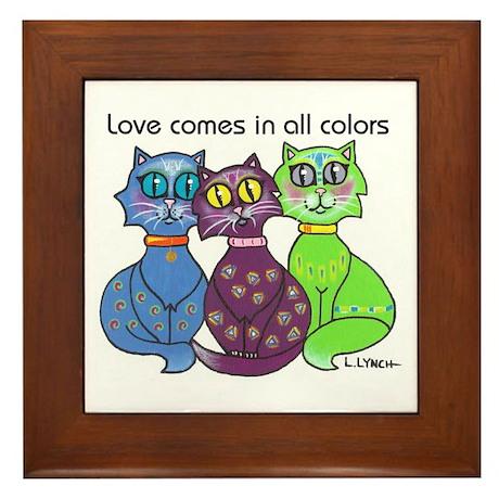 """""""Cat Colors"""" Framed Tile"""