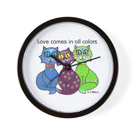 """""""Cat Colors"""" Wall Clock"""