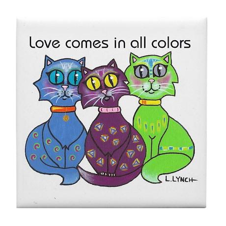 """""""Cat Colors"""" Tile Coaster"""