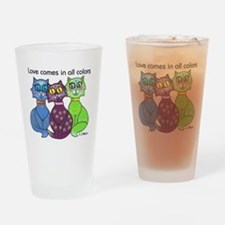 """""""Cat Colors"""" Drinking Glass"""