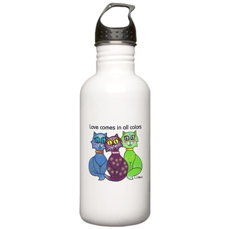"""Cat Colors"" Stainless Water Bottle 1.0L"