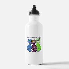 """""""Cat Colors"""" Water Bottle"""
