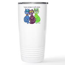 """""""Cat Colors"""" Travel Mug"""