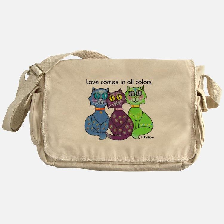"""""""Cat Colors"""" Messenger Bag"""