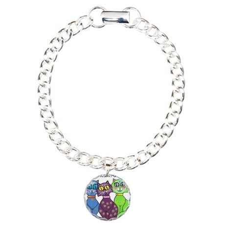 """Cat Colors"" Charm Bracelet, One Charm"