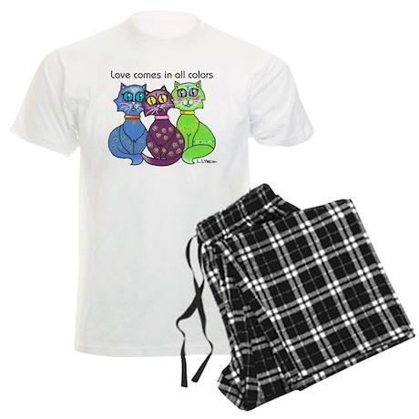 """Cat Colors"" Men's Light Pajamas"