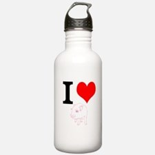 I Heart Pigs Water Bottle
