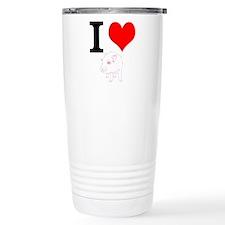 I Heart Pigs Travel Mug
