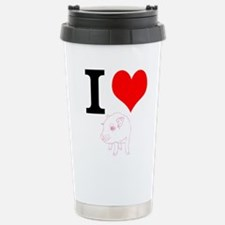 I Heart Pigs Travel Mug