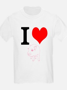 I Heart Pigs T-Shirt
