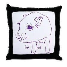 MINI PIG Throw Pillow