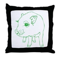 MINI PIG Throw Pillow