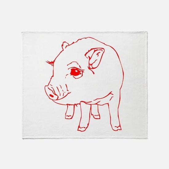 MINI PIG Throw Blanket