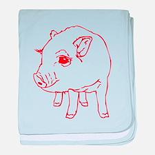 MINI PIG baby blanket