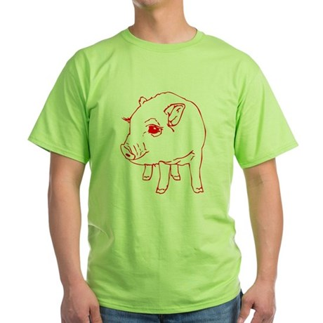 MINI PIG Green T-Shirt