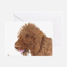 Chocolate Labradoodle 1 Greeting Card