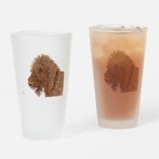 Chocolate Labradoodle 1 Drinking Glass