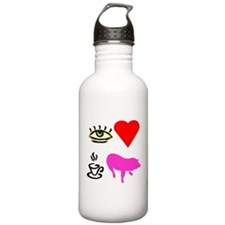 I Heart Teacup Pigs Water Bottle