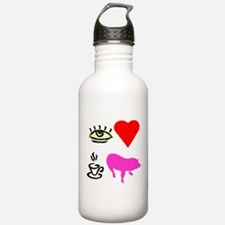 I Heart Teacup Pigs Water Bottle