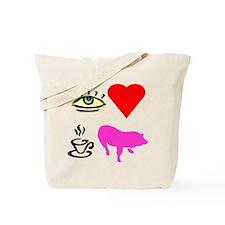 I Heart Teacup Pigs Tote Bag