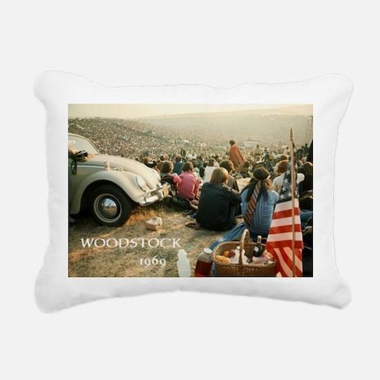 Cute Hippies Rectangular Canvas Pillow