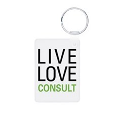 Live Love Consult Keychains
