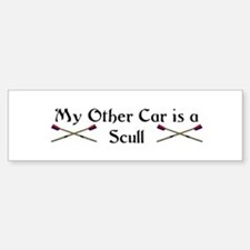 My other Car is a Scull Bumper Car Car Sticker