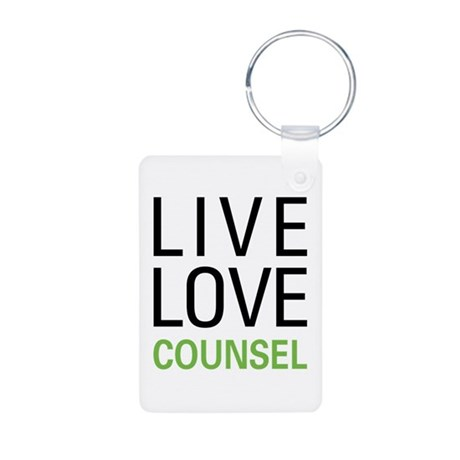 Live Love Counsel Aluminum Photo Keychain