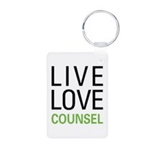 Live Love Counsel Keychains